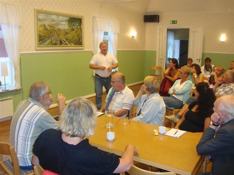 Karl Erik Kruse, ordförande i kommunstyrelsen och kommunalråd i Svalöv, talade om utveckling i kommunen!